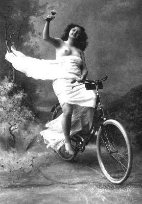 Half-naked cyclist