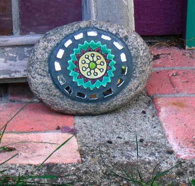 Mom's mosaic rock